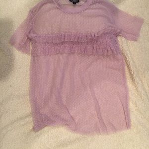 Topshop sheer lavender top